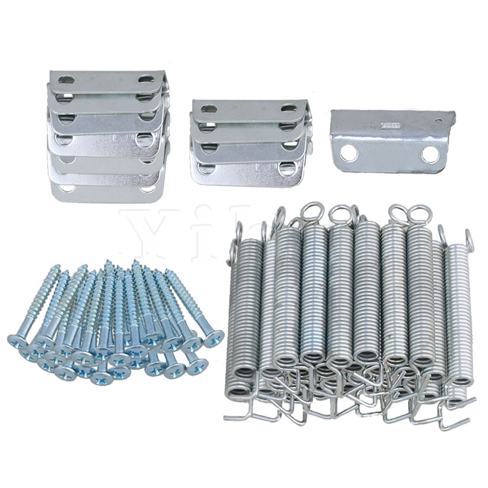 Yibuy Metal Tremolo Bridge Claws & Springs & Mounting Screws Electric Guitar Parts Pack of 20