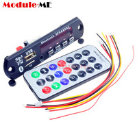1Set 7 12V Car Bluetooth MP3 Decoder Board Decoding Player Module Support FM Radio USB TF