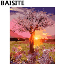 BAISITE Framed Landscape DIY Oil Painting By Numbers Painting&Calligraphy Wall Art Home Decor size 40*50cm E880(China)