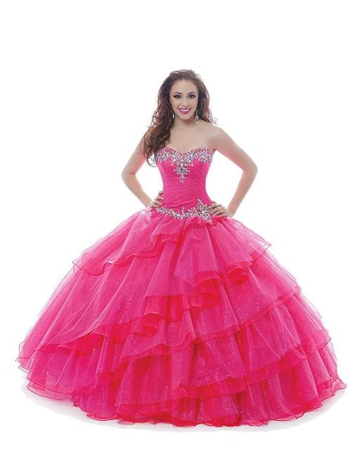 72ac6a9042b vestidos de 15 anos Sweetheart Beaded Pleated Full Length Quinceanera  Dresses Formal sweet 16 dresses masquerade ball gowns