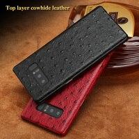 LANGSIDI Brand Phone Case Ostrich Grain Half Wrapped Phone Case For Samsung Note 8 Phone Case