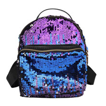 07be4752ef Women Bag Backpack Crown Sequin Backpack Female Shoulder Student Bag Girls  Generation Backpack Zaino da donna