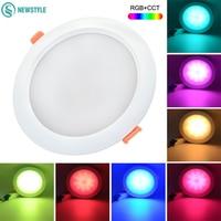 2.4G RGB + CCT 15 W Dimbare LED Downlight IP54 Waterdichte Mi Licht DownLights AC86-265V Ronde Reccessed Licht Voor badkamer
