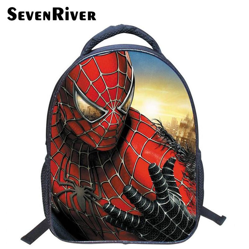 13 Inch Spiderman Cartoon Shoulder Bag Children Cartoon School Bags Kids Kindergarten Backpack Boys Mochila Infantil