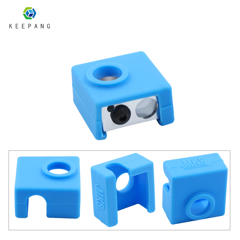 MK8 Protective Silicone Sock Cover Case fheating block Case for 3D Printer Makerbot Extruder High temperature resistance