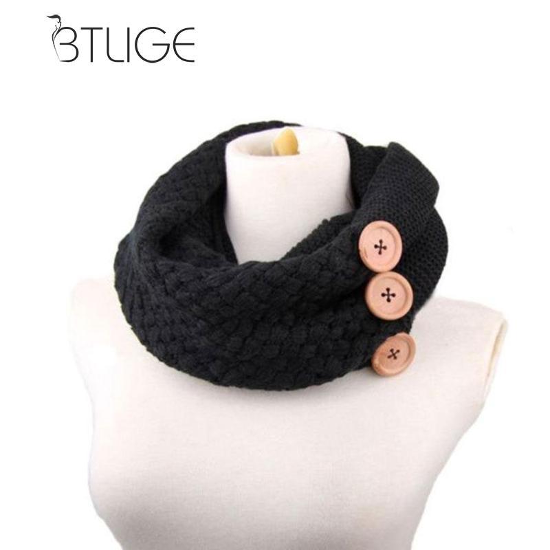 BTLIGE invierno cálido de punto infinito bufanda, mujeres Crochet ...
