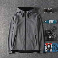 Spring Autumn Thin Section Motion Loose Male Hat Coat Men S Wear Easy Leisure Time Jacket