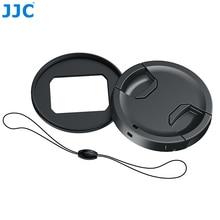JJC RN ZS200 מסנן מתאם & 49mm עדשת כובע ערכת עם מכסה עדשת Keeper עבור Panasonic Lumix DMC ZS200/ZS220 /TZ200/TZ220/TX2