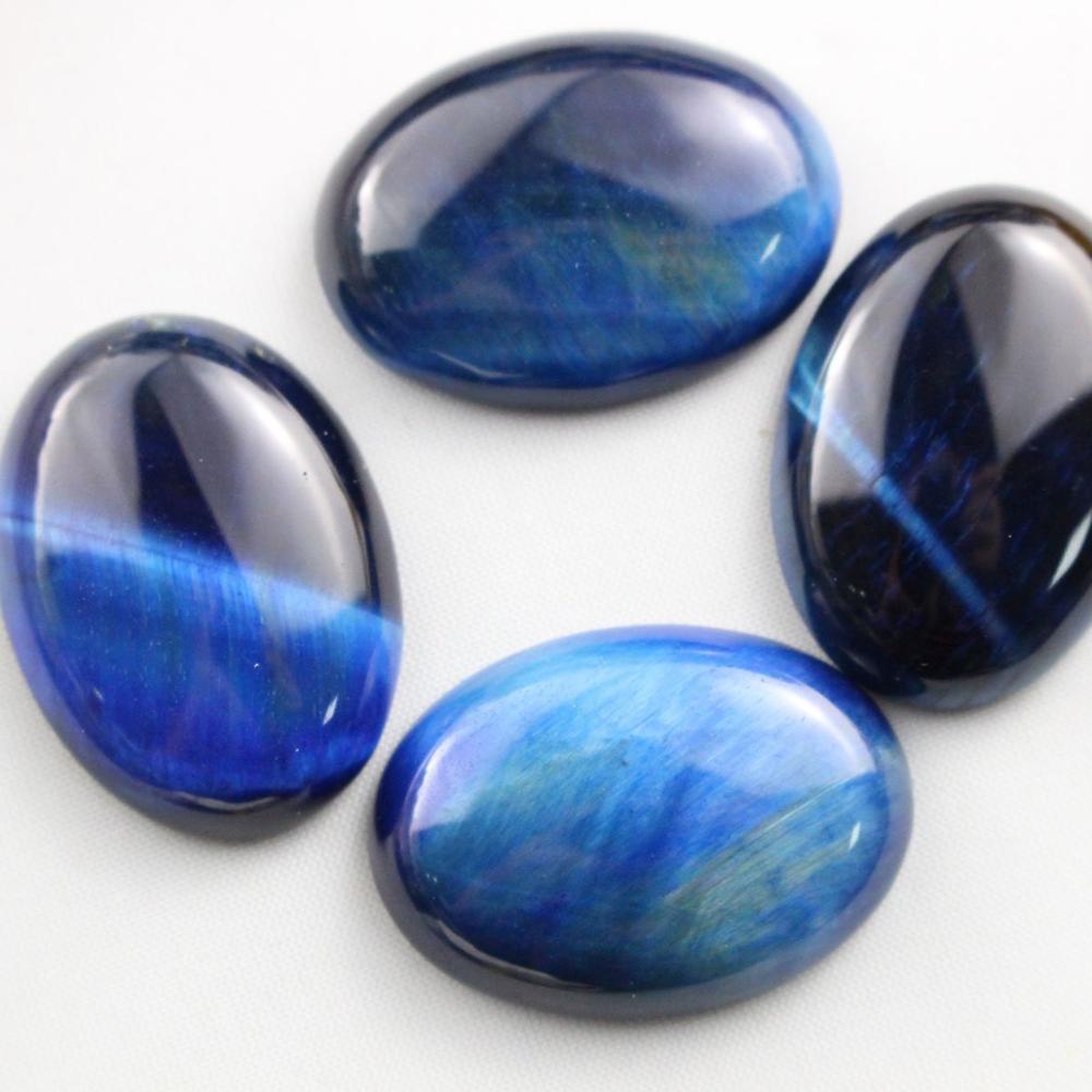 Натуральный камень каменный Агат e Кабошон бусины 22*30 мм плоское дно драгоценный камень каменный Кабошон для изготовления ювелирных изделий 10 шт./партия - Цвет: Blue tiger eye 10pcs