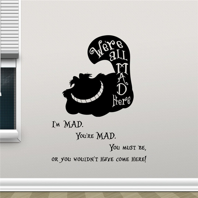 Alice in wonderland wall decals highest quality images