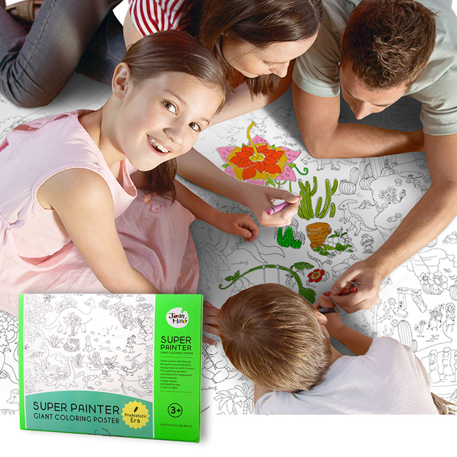 115*80CM Best Gift Kids Super Painter Huge Drawing Paper Coloring Poster Toys Boys Girls Birthday Gift Free Shipping