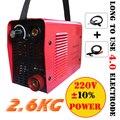 Mini 220 V/240 V 2.6 KG IGBT Inverter DC máquina de soldadura/equipo/dispositivo/soldadores Micro ARC250 soldadora palo para BRICOLAJE con accesorios