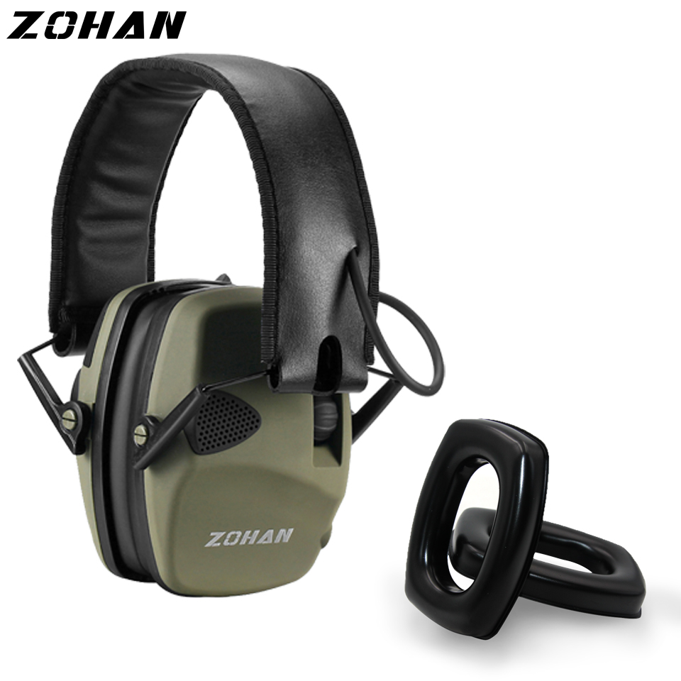 ZOHAN Electronic Earmuff NRR22DB Hunting Earmuffs Tactical Shooting Hearing Protection And One Pair Of Replacement Gel