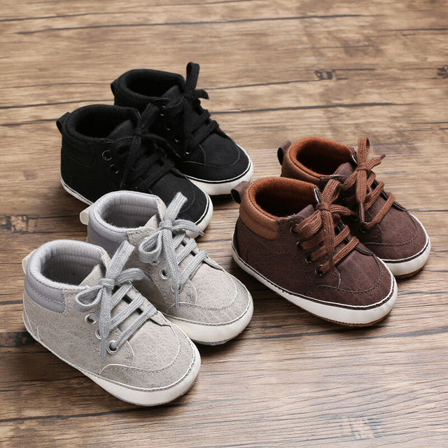 Pudcoco 2019 Newborn Baby Kids Girl Boys Cute Cotton First Walkers Lace-Up Sneakers Shoes