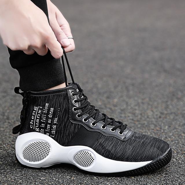 Original Professional Men Basketball Shoes Air Cushion Athletic High Ankle  Top Sneaker Footwear Sport LBJ 11 94722b484