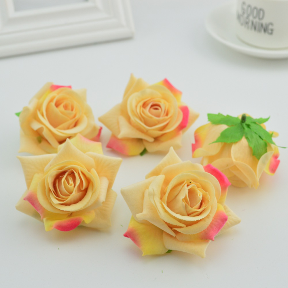 100pcs artificial flower wall cheap for home wedding vases ...