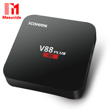 D'origine Mesuvida SCISHION V88plus TV Box Rockchip 3229 Quad-core Android 5.1 H.265 VP9 4 K Smart Media Player PK X92 X96 A95T