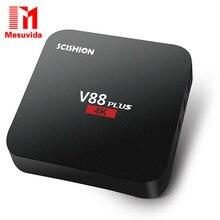 Оригинал Mesuvida SCISHION V88plus TV Box Rockchip 3229 Quad-core Android 5.1 H.265 VP9 4 К Смарт Медиа-Плеер PK X92 X96 A95T