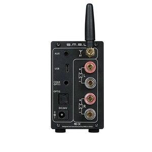 Image 3 - SMSL AD18 amplificateur Audio stéréo HI FI avec Bluetooth 4.2 prend en charge apt x, amplificateur de puissance numérique USB DSP 2.1 pour haut parleur