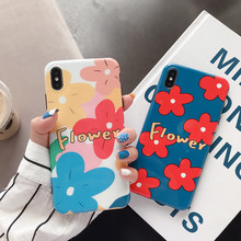 Floral Phone Cases For iphone 7 case for XR XS Max X 6 6S 8Plus watercolor flower petals soft silicone capa