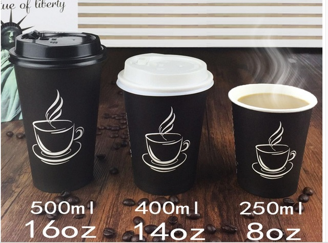 c74b6e8148d US $6.0 |10pcs 400ml biodegradable paper coffee cup, disposable coffee mug  with lid and straw for shops-in Mugs from Home & Garden on Aliexpress.com |  ...
