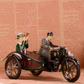 Juguetes de Colección Classic Retro Clockwork Motocicleta Moto Nave Escaparate Tinwork Artesanal de Regalo
