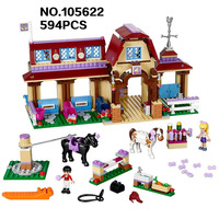 2017 NEW BELA 10562 Girls Friends Heartlake Riding Club Building Blocks 594Pcs Kids Model Bricks Toys