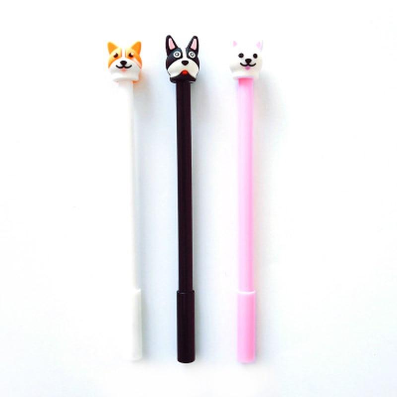 1pcs Puppy Gel Pen Cute Stationery 0.5mm Cute Pens Kawaii Cartoon Gel Pens Novelty Student Signature Pen Kawaii School Supplies