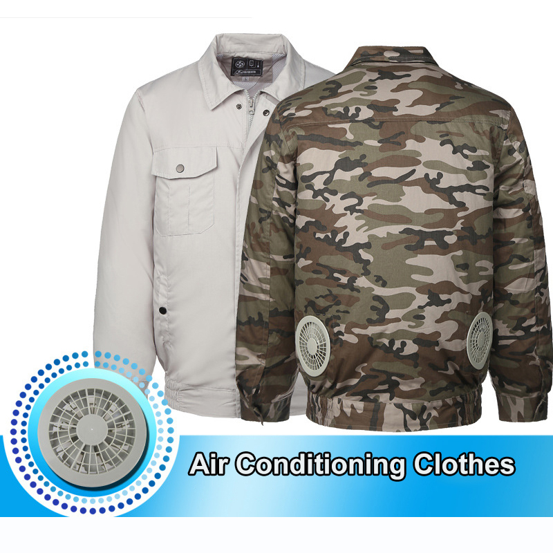 Air Conditioning Clothes Cooling Conditioned Fan Jacket For Outdoor High Temperature Cooling Jackets Working Fishing Hunting-in Safety Clothing from Security & Protection