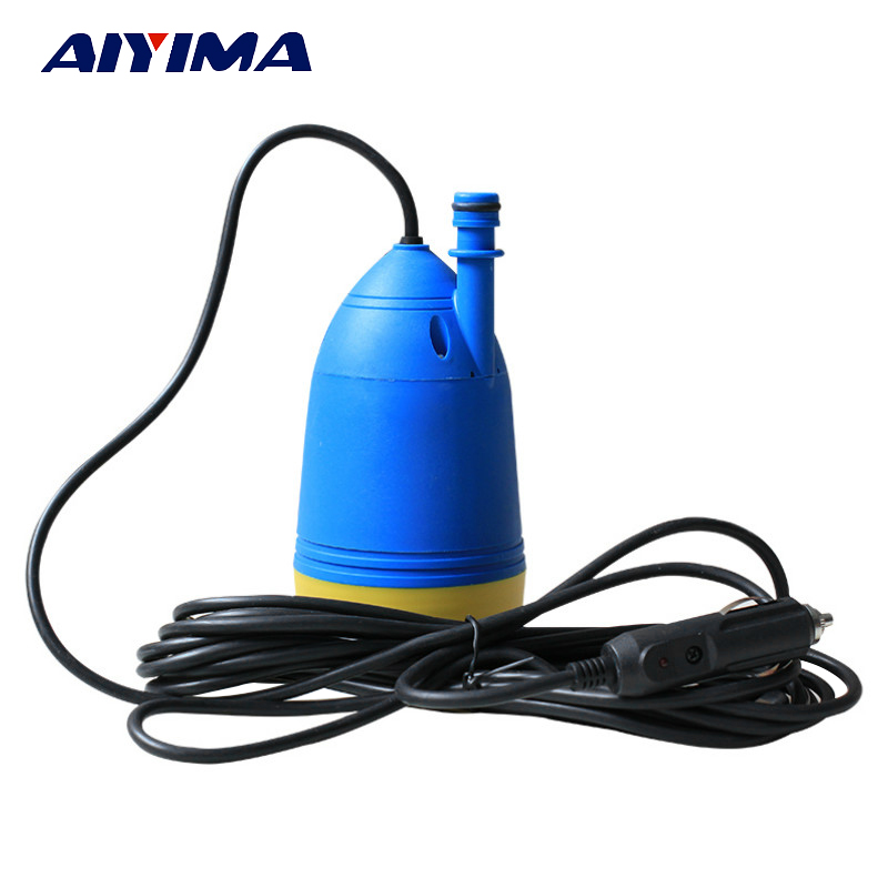 AIYIMA Micro DC12V Water Pump 4.5L/Min For Drilling Machine Slot Machine Electric Submersible Pumps With 3M Wires цена