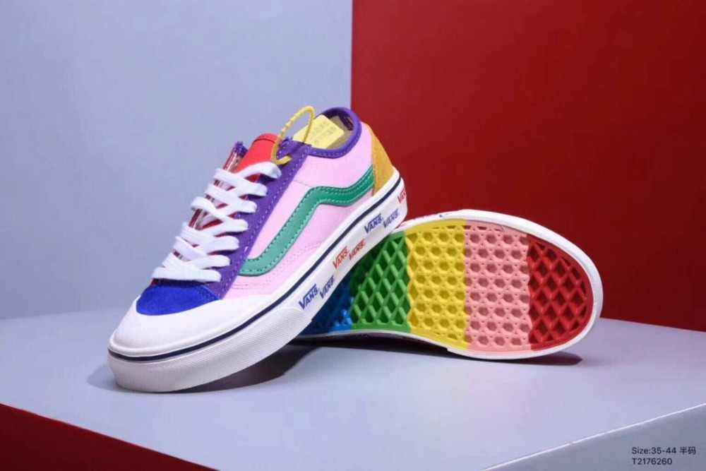 0f7818ae635460 Detail Feedback Questions about Vans Sk8 Hi classic Mens Rainbow at ...