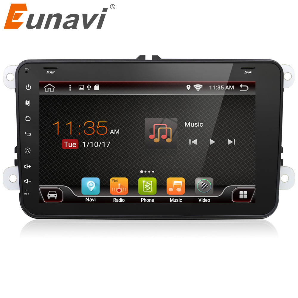 eunavi 2 din android 6 0 car radio stereo for vw jetta. Black Bedroom Furniture Sets. Home Design Ideas