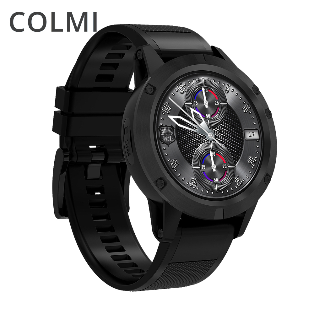 COLMI J1 Phare montre Smart watch Android 5.1 OS MTK6580 Quad Core 1 gb + 16 gb 360*360 AMOLED affichage 480 mah BORD Smartwatch