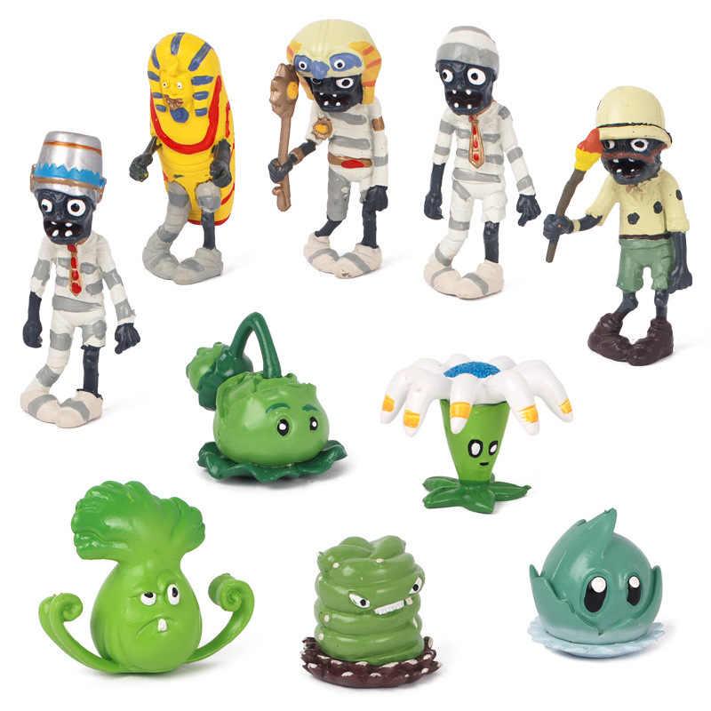 3-10 cm plantas vs zumbis conjunto brinquedos pvz coleção bonecas plantas zumbis pvc figuras de ação boneca modelo para chirstmas presente 14 estilos