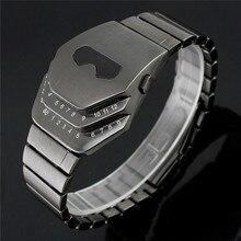Marca Nueva Serpiente de La Manera LED Digital Relojes Electrónicos 2015 Nuevos Hombres Deportes Militar Reloj de Los Hombres Relojes de Pulsera de Acero Completo saat