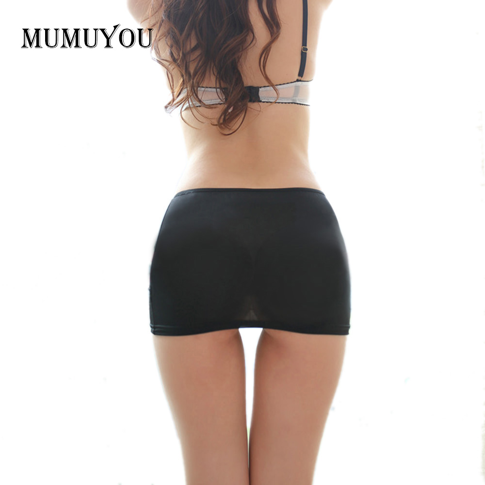 Ladies Hot Bodycon Bandage Elastic Skirt Micro Mini  Low Waist Clubwear Nightclub  Solid Color Black/White  047-2615