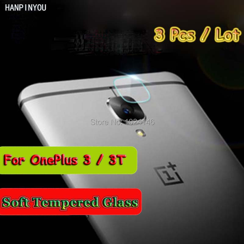 3 Pcs/Lot For OnePlus 3 A3000 1+ 3/3T A3010 5.5 Ultra Thin Clear Back Camera Lens Protector Soft Tempered Glass Protective Film