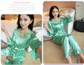 High quality silk sleeping wear  soft silky nightgown silk nighties pants  silk pajama sets distribute price