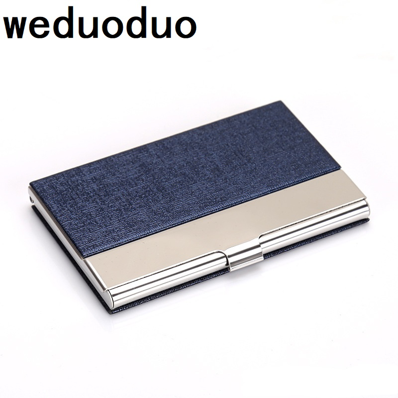 Weduoduo Women And Men Business ID Credit Card Holder Fanshion Bank Card Holder High Quality Stainless Steel Name Card Case business card holder women vogue thumb slide out stainless steel pocket id credit card holder case men