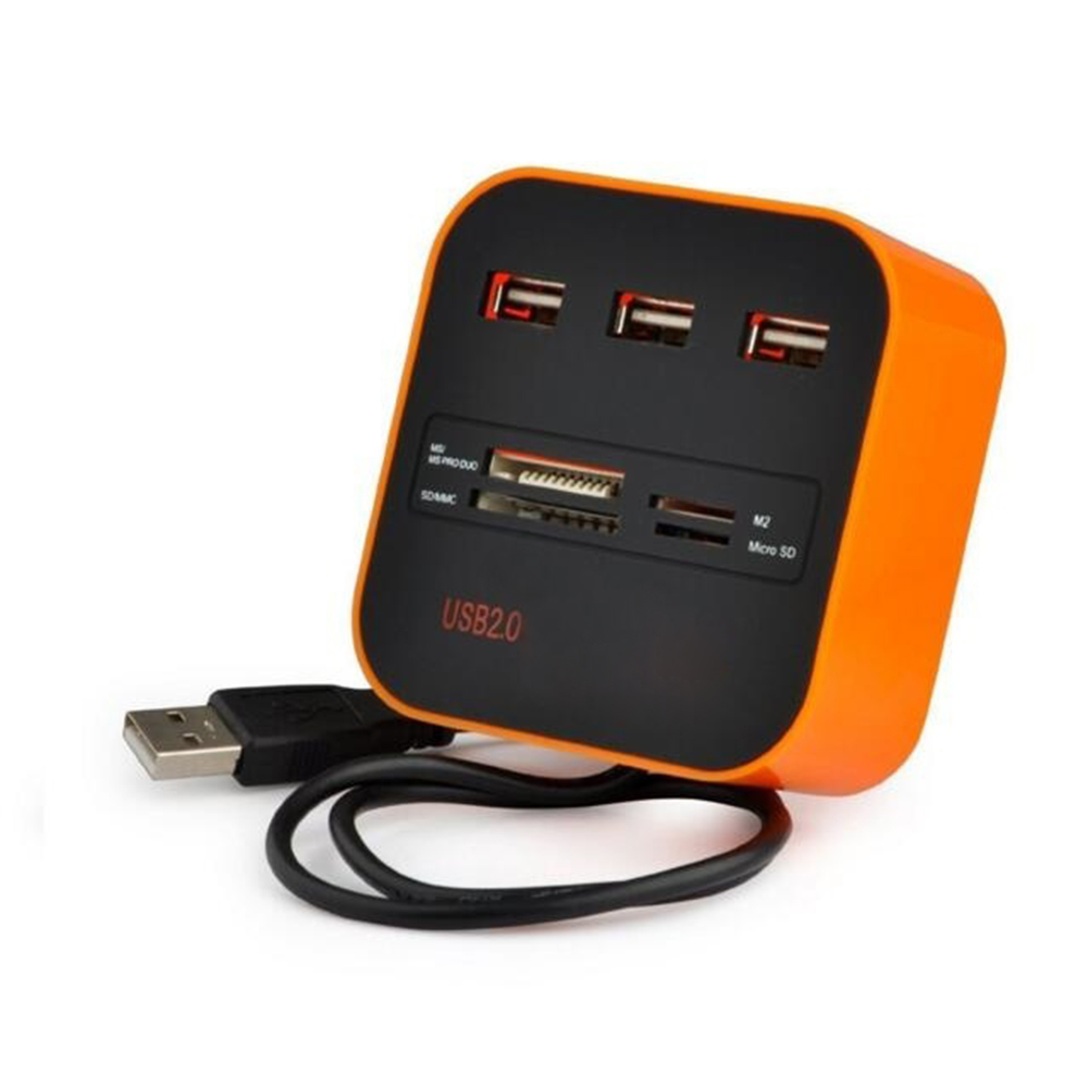 3 высокого Скорость Порты и разъёмы USB HUB разветвитель USB 2,0 адаптер для Тетрадь/планшетный компьютер PC периферия аксессуары оранжевый