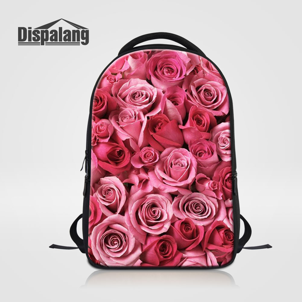 ALAZA Red Rose Close Up Art Painting Large Canvas Backpack Water Resistant Laptop Bag Travel School Bags with Multiple Pockets for Men Women College