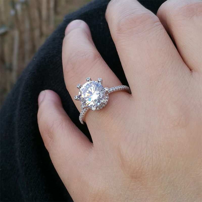 whiteview solitare engagement rings solitaire style wedding ring tiffany round cut