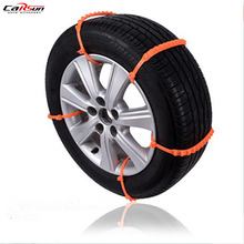 цена на CARSUN 5Pcs/Lot Car Styling Winter Anti-skid Chains For Car Snow Wheel Tyre Thickened Tire Tendon Snow Chains For All The Cars