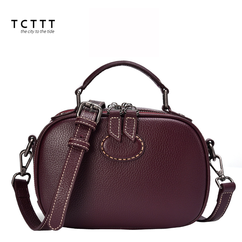 TCTTT women's Genuine leather Shoulder bag Fashion Vintage luxury handbags women bags designer High Quality Crossbody bag Bolsas tcttt luxury handbags women bags designer fashion women s leather shoulder bag high quality rivet brand crossbody messenger bag