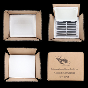 Image 3 - Clear Eyelashes Storage Box 10 Layers Acrylic Pallet Lash Holder Individual lash Volume Display Stand For Eyelash Extension Tool