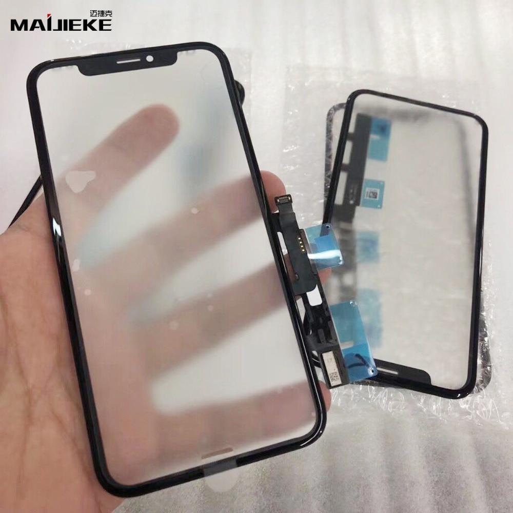 Ori avant lentille en verre numériseur pour iphone XR 6.1 LCD numériseur écran tactile en verre avec cadre moyen de remplacement travail dernier ios