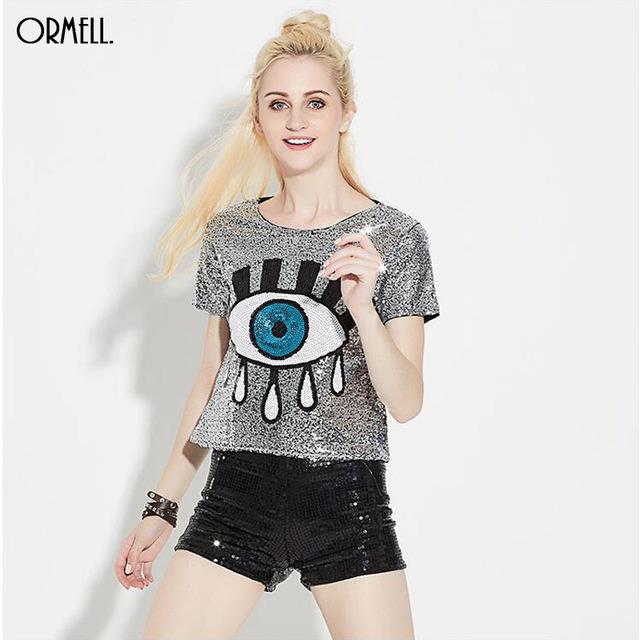 Women's Evil Eye Crop Top Casual T Shirt