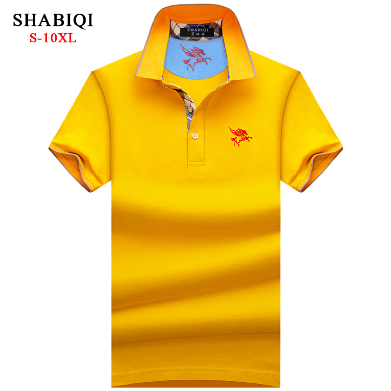 SHABIQI Brand Men shirt Men   Polo   Shirt Men Short Sleeve   Polos   Shirt Embroidery Pegasus   Polo   Shirt Plus Size 6XL 7XL 8XL 9XL 10XL