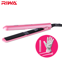 RIWA Digital Temperature Control Professional Hair Straightener Ceramic Curler Hair Tongs LCD Display Iron For Hair