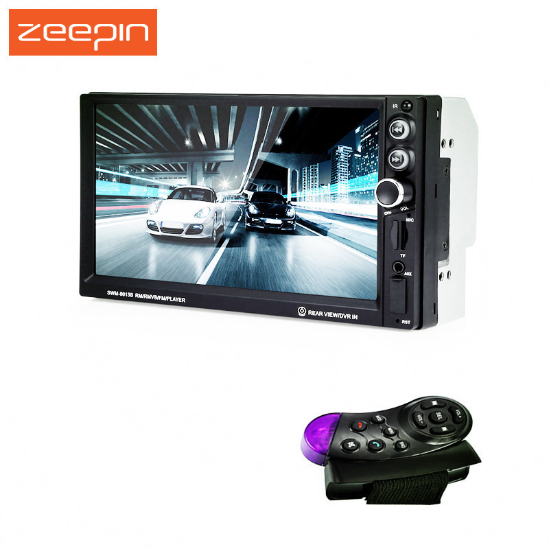 Zeepin 7 inch touch screen 2 din car radio player MP5 car multimedia player Bluetooth TF Steering-wheel control Audio Autoradio steering wheel control 7 inch touch screen car radio mp5 mp3 2 din car audio video usb tf auxin bluetooth backing up priority hd